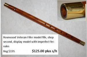 Rosewood Veteran Fifer special
